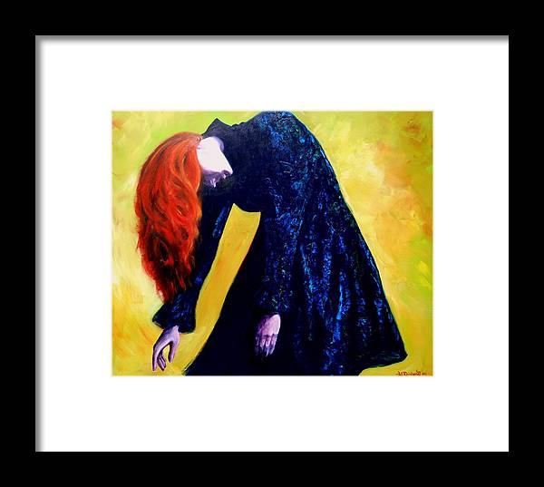 Acrylic Framed Print featuring the painting Wound Down by Jason Reinhardt