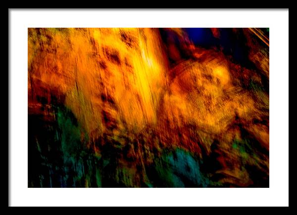 Landscape Framed Print featuring the painting Wounded Earth 2 by Tim Thorpe