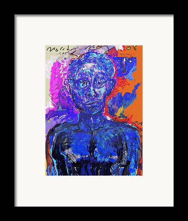 Portrat Framed Print featuring the painting Wounded Sprit II by Noredin Morgan