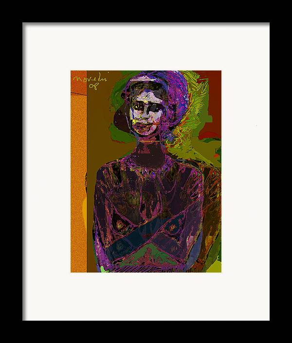 Potrait Framed Print featuring the painting Wounded Sprit by Noredin