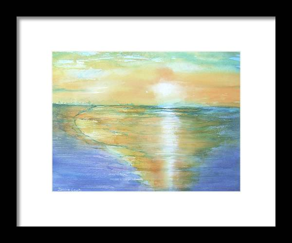 Watercolor Framed Print featuring the painting Wow Sunset by Debbie Lewis