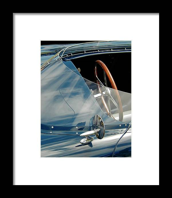 Racing Cockpit Framed Print featuring the photograph Wrap Around by Alan Olmstead