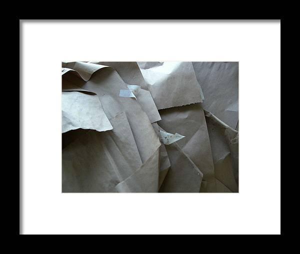 Artwork Wrappings Framed Print featuring the photograph Wrappings by Nancy Ferrier