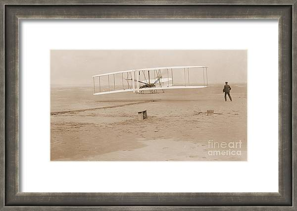 Wright Brothers First Powered Flight by Padre Art