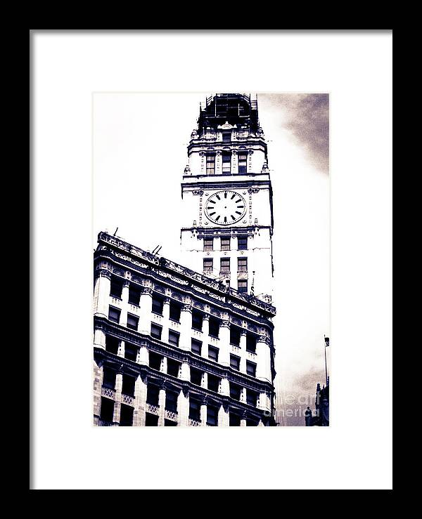 Giralda-inspired Tower Framed Print featuring the photograph Wrigley Building by Lillian Michi Adams