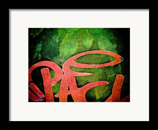 Abstract Framed Print featuring the photograph Writ Large by Odd Jeppesen
