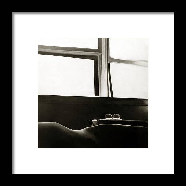 Anni Adkins Framed Print featuring the painting Writer's Repose by Anni Adkins