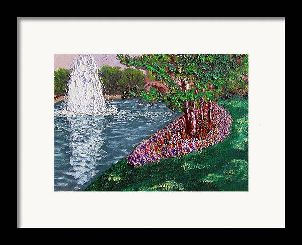 Fountain Framed Print featuring the painting Wrsp August by Stan Hamilton