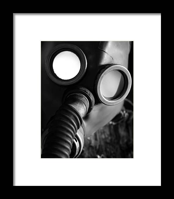 Creepy Framed Print featuring the photograph Wwii Gas Mask by Kristopher Hill