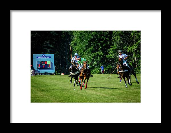 Banbury Cross Framed Print featuring the photograph Wyatt And Scoreboard by Sarah M Taylor