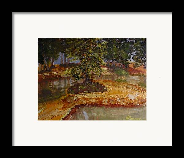 Landscape Framed Print featuring the painting Wylie's Island by Helen Musser