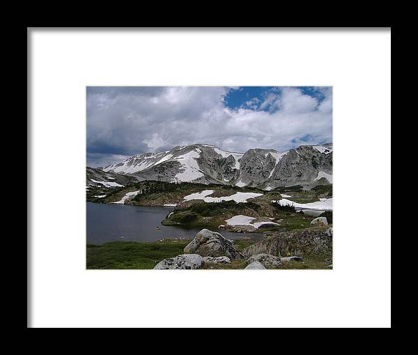 Wyoming Snow\\\\\\\'y Range Framed Print featuring the photograph Wyoming Landscape by Alice Eckmann