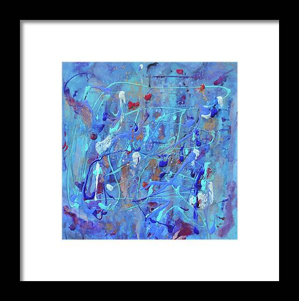 Abstract Framed Print featuring the painting X by Margaret Fronimos