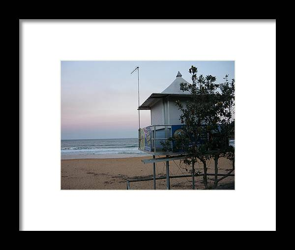 Mcmasters Beach Surf Club Twilight Sunset Sea Framed Print featuring the photograph Xanadu by Adrianne Wood