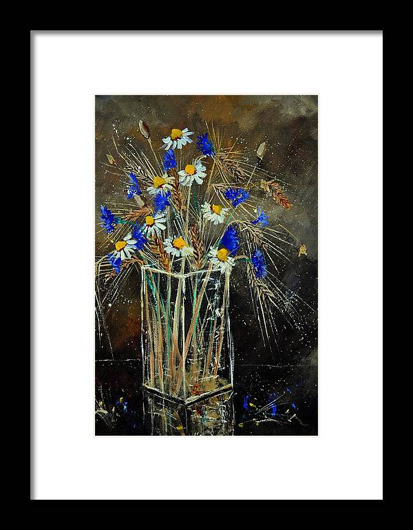 Flowers Framed Print featuring the painting Xav's Bunch by Pol Ledent