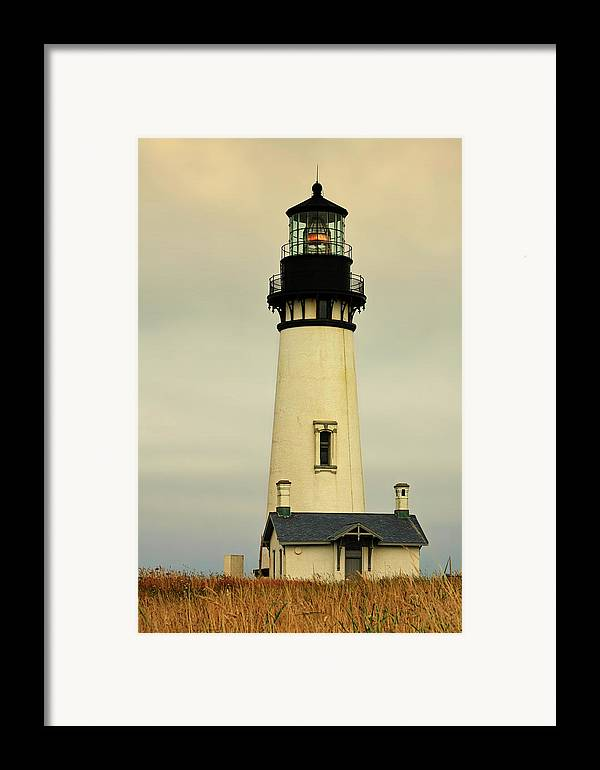 Yaquina Head Lighthouse Framed Print featuring the photograph Yaquina Head Lighthouse - Newport Or by Christine Till