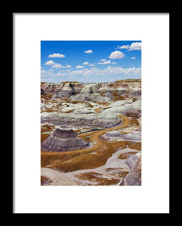 Painted Desert Framed Print featuring the photograph Yea Though I Walk by Skip Hunt
