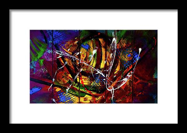 Yeah Framed Print featuring the painting Yeah by Lisa Kaiser