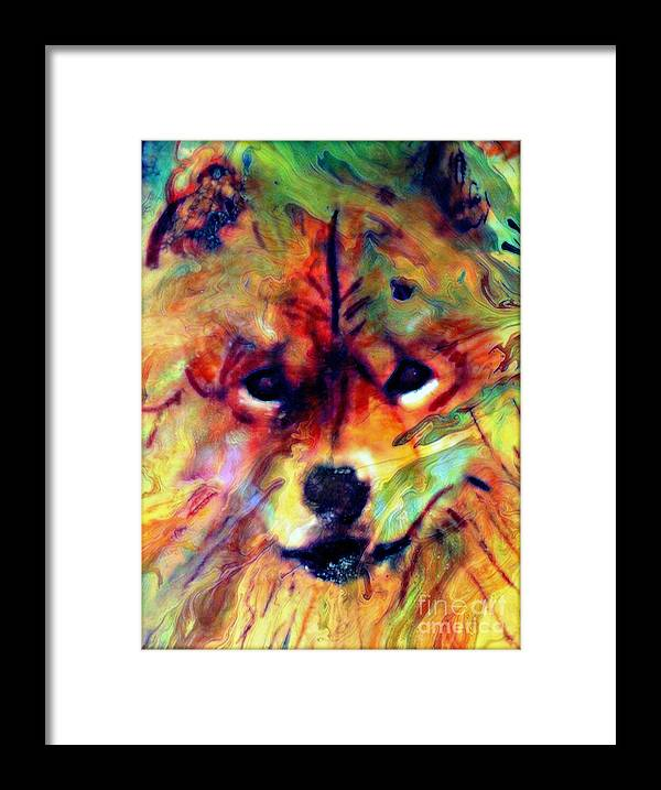 Dog Framed Print featuring the painting Year Of The Dog by Wbk