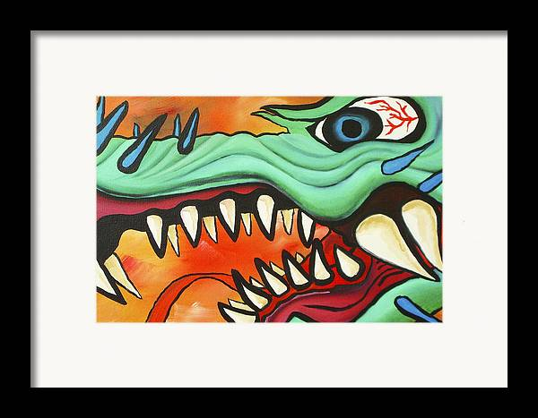 Dragon Framed Print featuring the painting Year Of The Dragon by Joseph Palotas