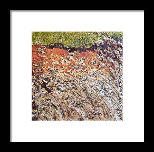 Abstract Framed Print featuring the painting Yearning by Piety Choi