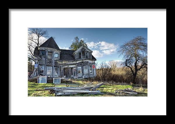 Architecture Framed Print featuring the photograph Years Gone By by Richard Bean