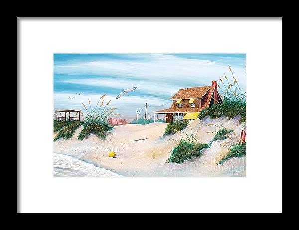Beach Framed Print featuring the painting Yellow Beach Ball by Hugh Harris