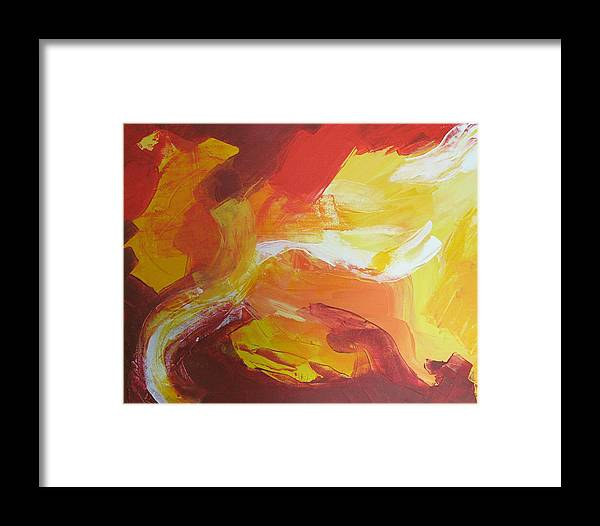 Clouds Framed Print featuring the painting Yellow Clouds Sold by Christiane Schulze Art And Photography
