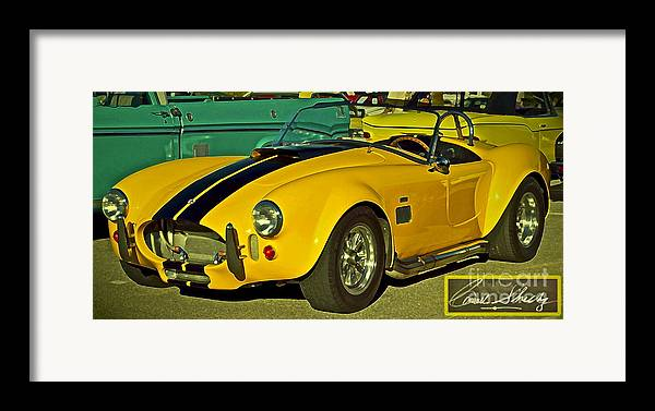 Cobra Framed Print featuring the photograph Yellow Cobra by Gwyn Newcombe