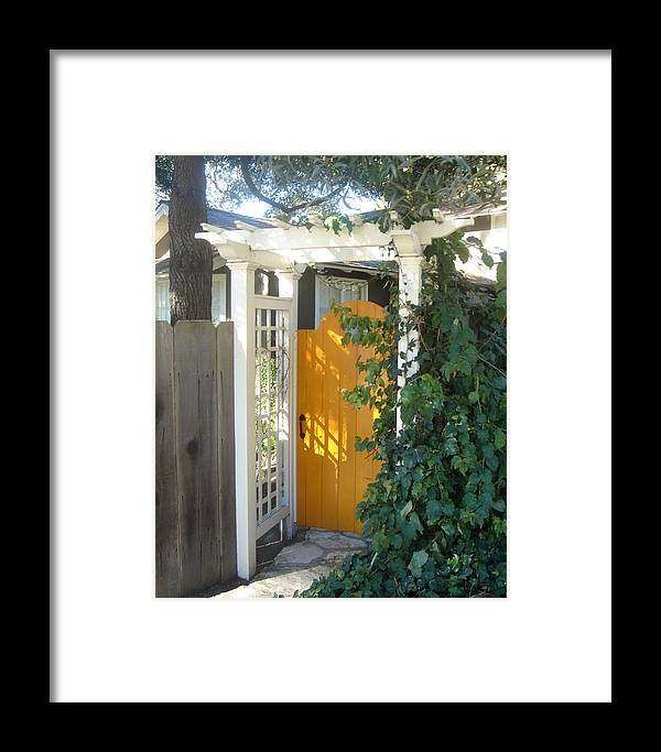 Yellow Doors Framed Print featuring the photograph Yellow Door by Dorota Nowak
