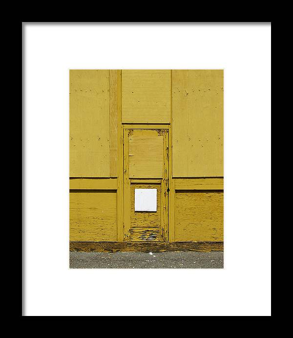 Door Framed Print featuring the photograph Yellow Door With Accent by Ben Freeman