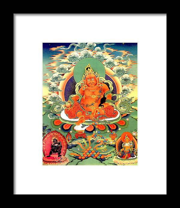 Yellow Jambhala Framed Print featuring the photograph Yellow Jambhala 20 by Jeelan Clark