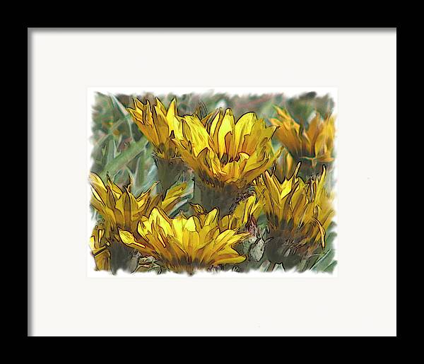 Abstract Framed Print featuring the digital art Yellow by Laurianne Nash