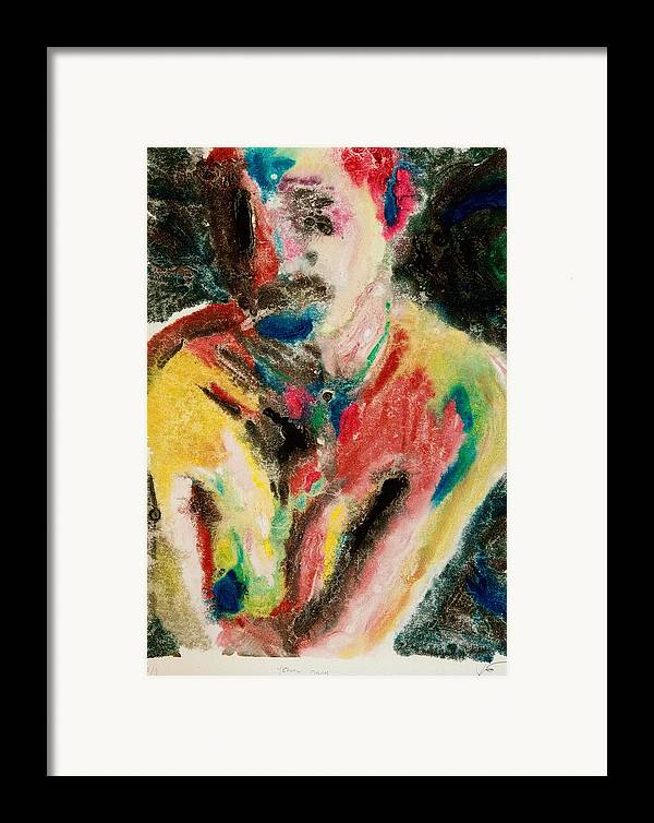 Oil Framed Print featuring the print Yellow Molly by John Toxey