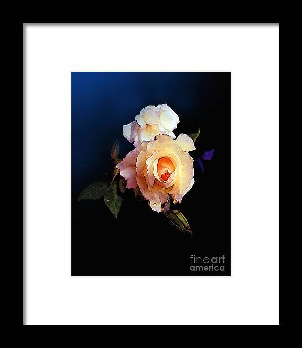 Rose Framed Print featuring the painting Yellow Rose by Robert Foster