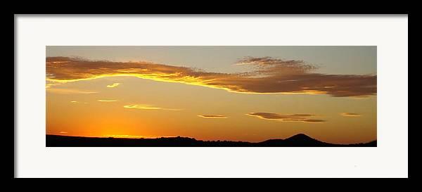 Sunset Framed Print featuring the photograph Yellow Sky Three by Ana Villaronga