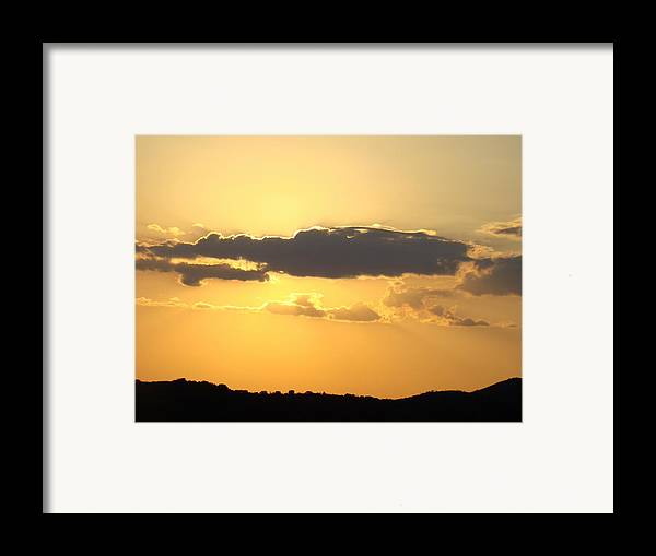 Yellow Framed Print featuring the photograph Yellow Sky Two by Ana Villaronga