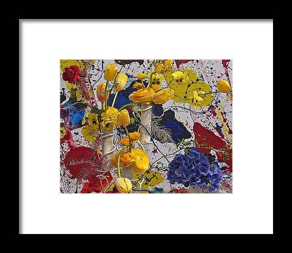 Flowers Framed Print featuring the photograph Yellow Tulips by Sonia Melnikova-Raich