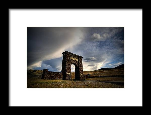 Yellowstone Framed Print featuring the photograph Yellowstone North Gate by Patrick Flynn