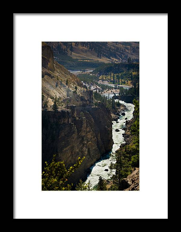 River Framed Print featuring the photograph Yellowstone River by Chad Davis
