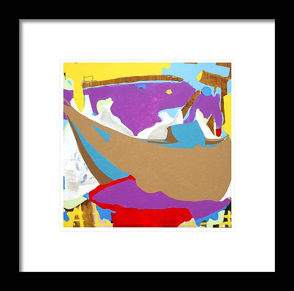 Ourabetics Framed Print featuring the painting Yeshua And The Tentmakers by Lamar Barber