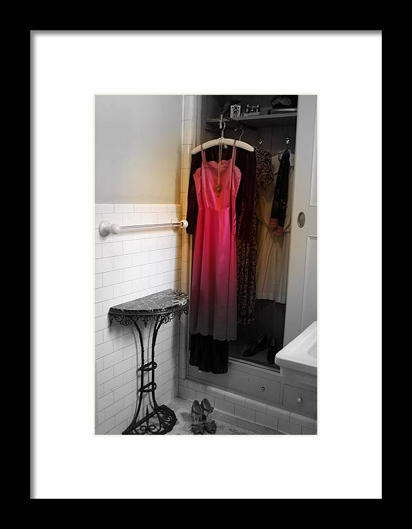 Adventure Into The Past..in The Time Of William Randolph Hearst Framed Print featuring the photograph Yesteryear's Closet by Shelle Allen-russell