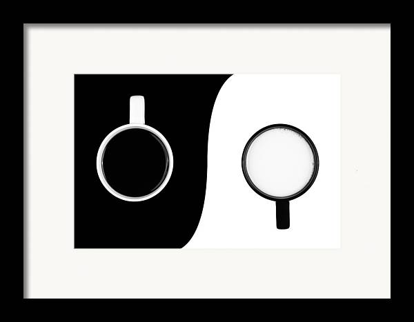 Background Framed Print featuring the photograph Yin And Yang by Gert Lavsen