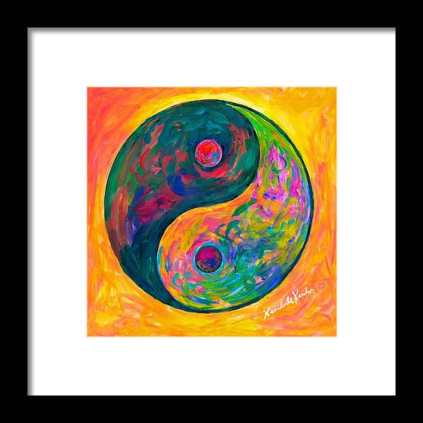 Yin Yang Paintings Framed Print featuring the painting Yin Yang Flow by Kendall Kessler