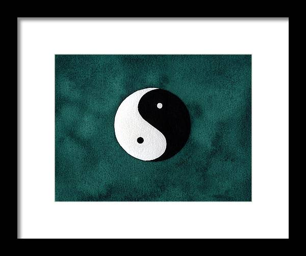 Yin-yang Framed Print featuring the painting Yin Yang by Stephanie Jolley
