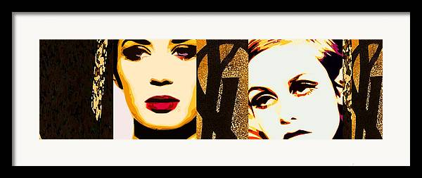 Designer Fashion Framed Print featuring the painting Yls Retrospective by Lelia DeMello