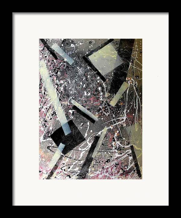 Abstract Framed Print featuring the painting Yogurt Making Facility by Evguenia Men