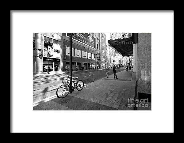 Toronto Framed Print featuring the photograph Yonge And Queen In Toronto by Colin Cuthbert
