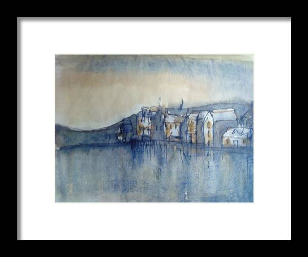 Yorkshire Framed Print featuring the painting Yorkshire Sunrise by Kate Loveridge
