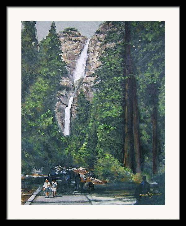 Yosemite National Park Framed Print featuring the painting Yosemite by Howard Stroman